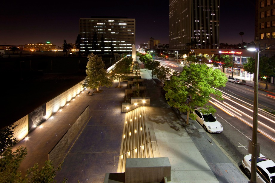 South Park Streetscape in Downtown Los Angeles