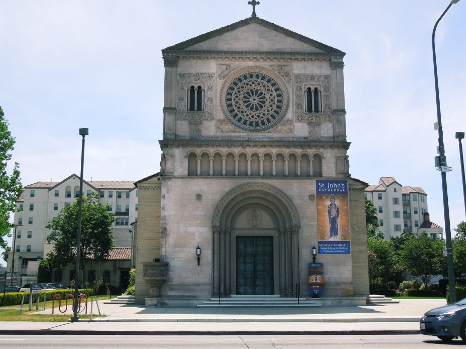 St. John Cathedral was built in 1925 in the Romanesque Revival architectural style. Photo: Linda Daley