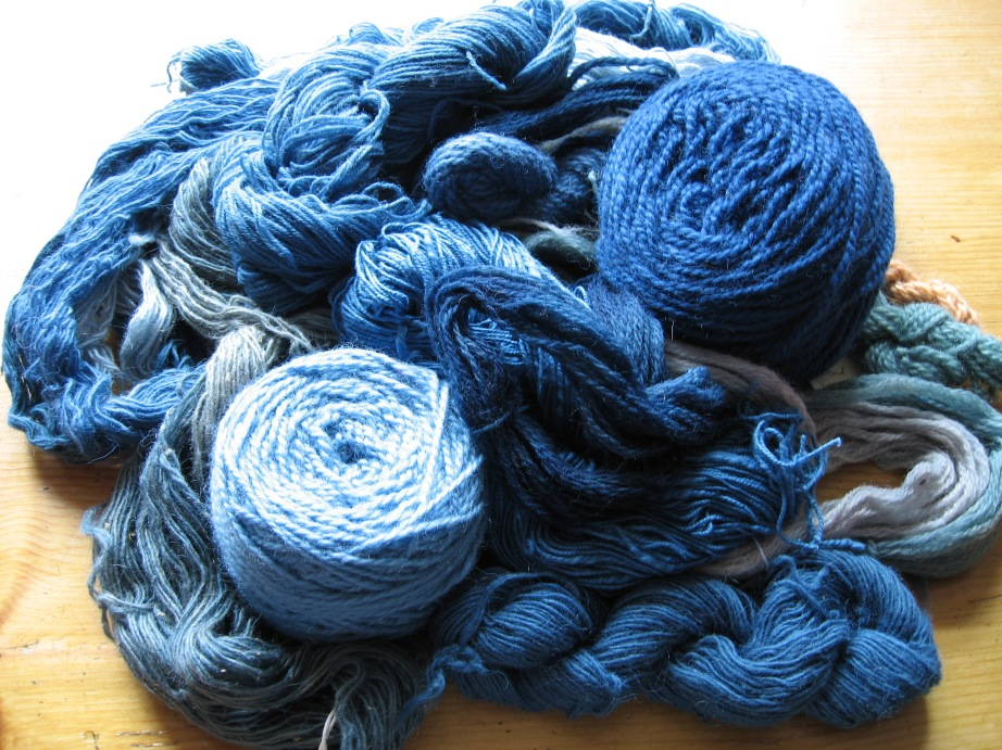 Woad dyed yarn. Photo: The Right Hue.