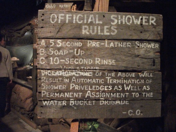 Navy shower rules.