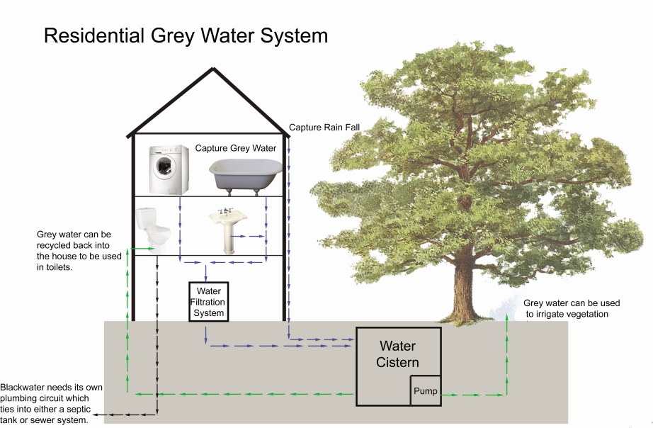 Designers everywhere are looking to add water sustainability features into communities, including grey water systems, like this one for Eco Village.