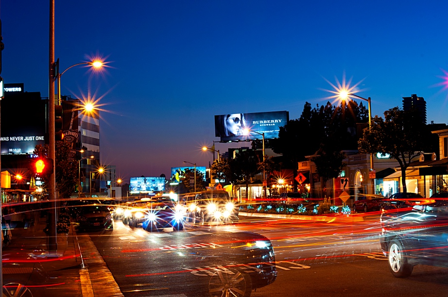 Sunset Blvd on a Friday night. Creative Commons photo by: Steven Bevacqua.