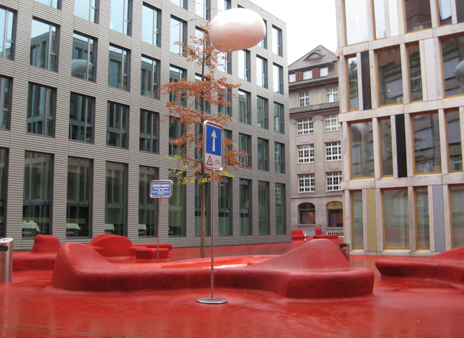 City Lounge/Pipilotti Rist (artist), Carlos Martinez (architect), City Lounge, 2005, - Switzerland, Canton of St. Gallen, St. Gallen – Creative Commons Photo: Kamahele