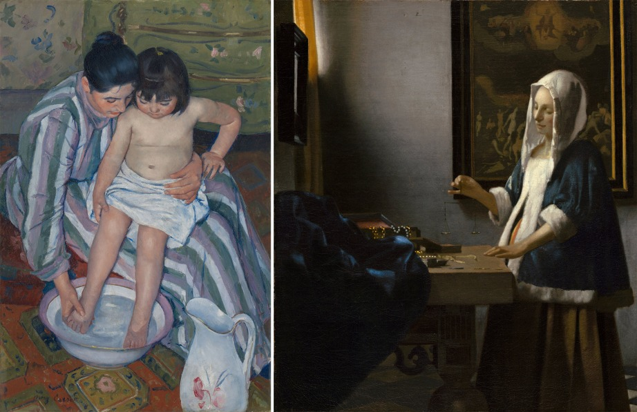 Mary Cassatt's The Bath, or Jan Vermeer's Woman with Scales