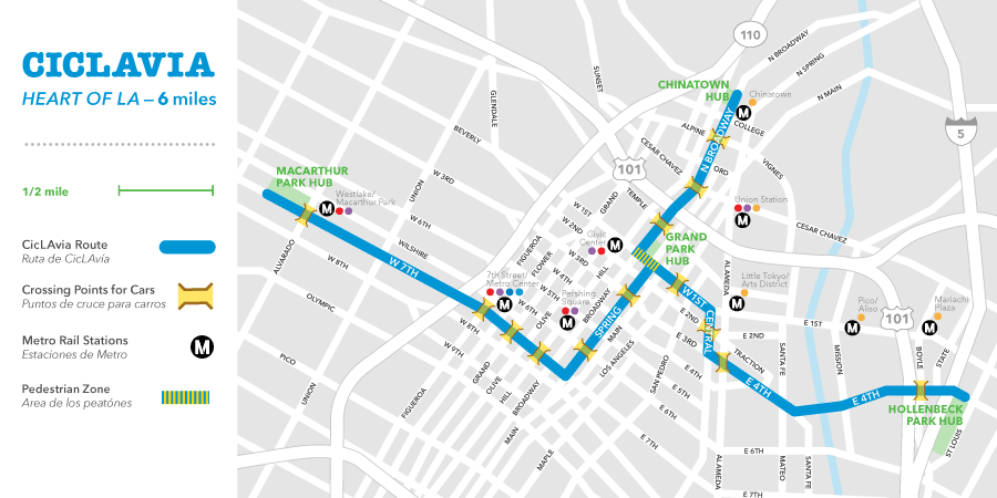 Map via CicLAvia