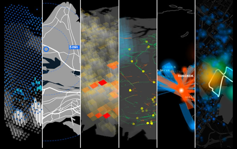Using technology to map real-time data of urban lifestyles shapes and informs the design processes (image courtesy: Sensible City Lab MIT)