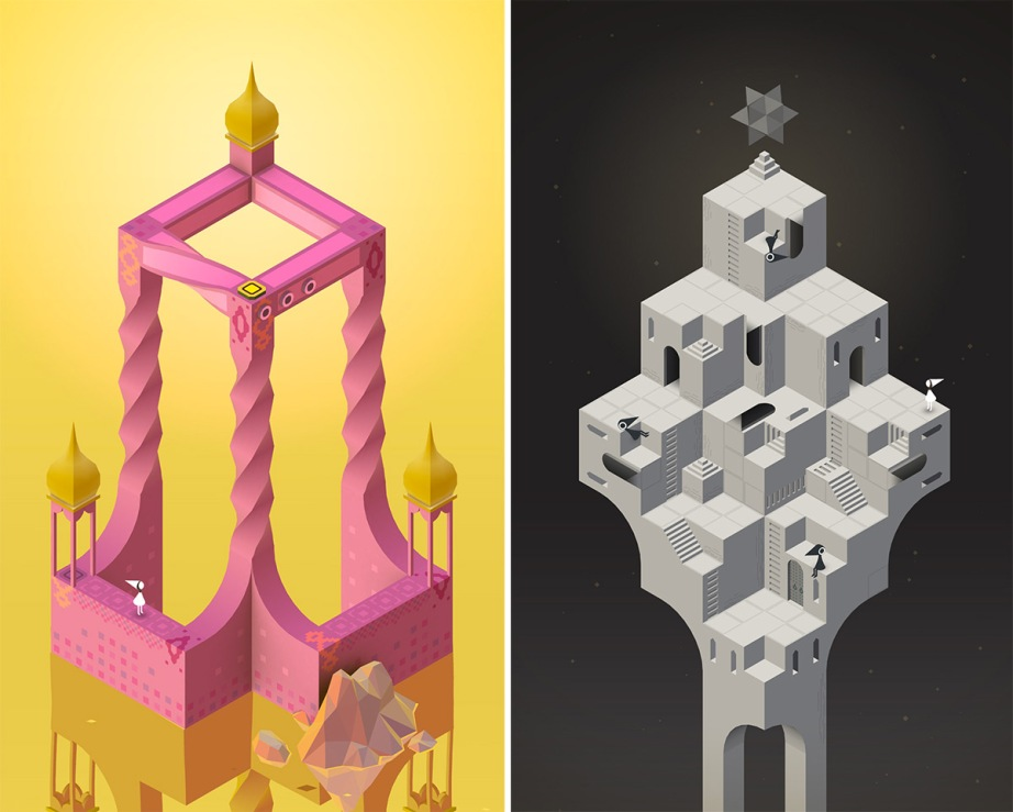 Screens from the iOS game, Monument Valley