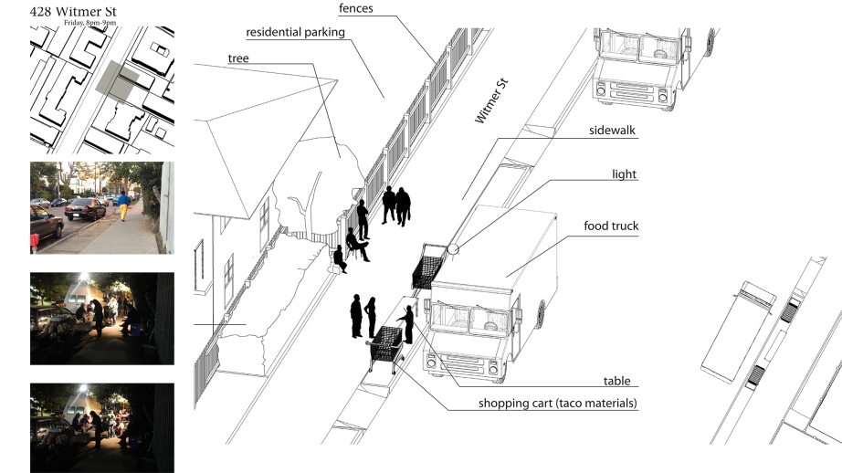 Isometric diagram of a urban live study studio, by Yiran Wang