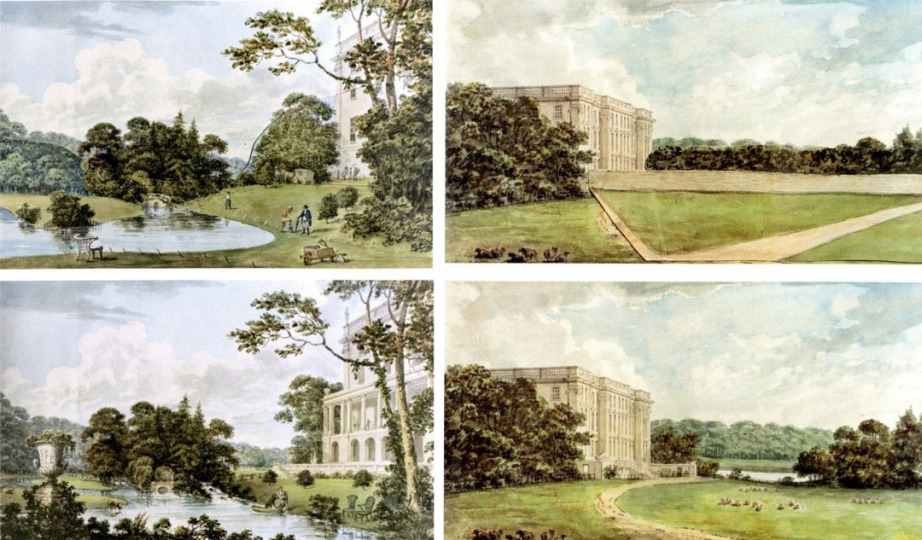 """Before & Afters"" from Humphry Repton's Red Books"