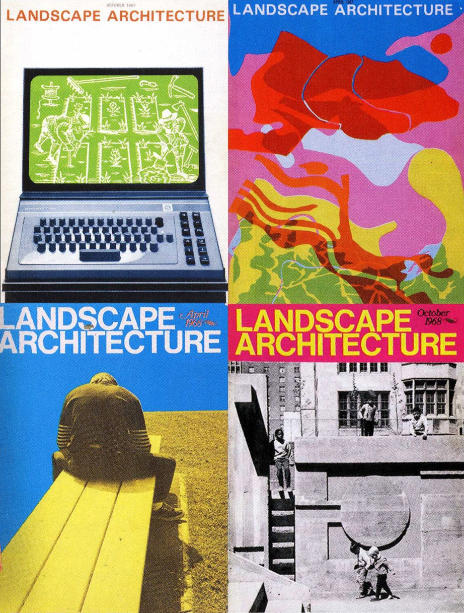 Landscape Architecture magazine covers from the 1960s are wonderfully abstract and visually exploratory.