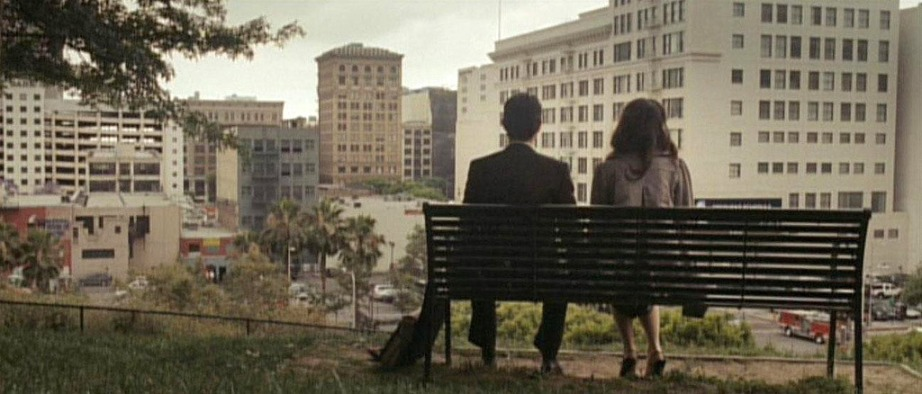 You may be familiar with this scene from 500 Days of Summer: a young couple sitting at a bench at the top of Angels Knoll Park and looking upon the city below.
