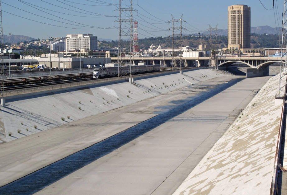 Creative Commons photo of the Los Angeles River channel by Downtowngal.