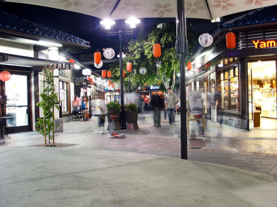 Little Tokyo Village Plaza in Los Angeles - Creative Commons photo by Justefrain