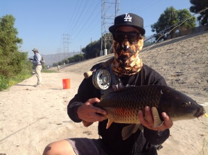 Los Angeles River fishing enthusiast sites like lariverflyfishing.com reveal there is a surprising amount of fish living in the river...except none are currently native species. Photo by Jim Burns/lariverflyfishing.com