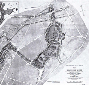 Olmsted's 1887 plan for the Fens.