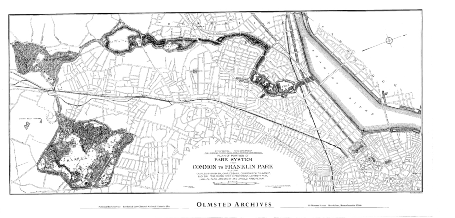 Olmsted Historic Map of Boston