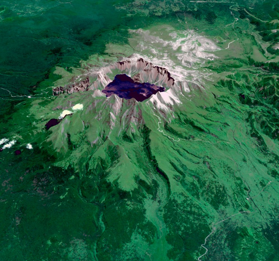 Baektu Mountain volcano -PHOTOGRAPH BY NASA/METI/AIST/JAPAN SPACE SYSTEMS, AND U.S./JAPAN ASTER SCIENCE TEAM