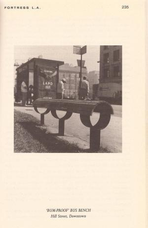 Mike Davis Bus bench in his book