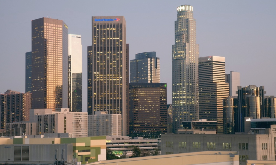 modern skyline of Los Angeles resulted from the termination of severe height restrictions in 1957