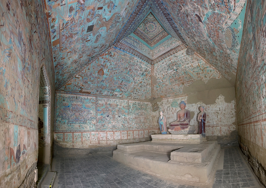 Cave 85, view of the interior, Late Tang dynasty (848–907 CE). Mogao Grottoes, Dunhuang, China. Photo: Dunhuang Academy