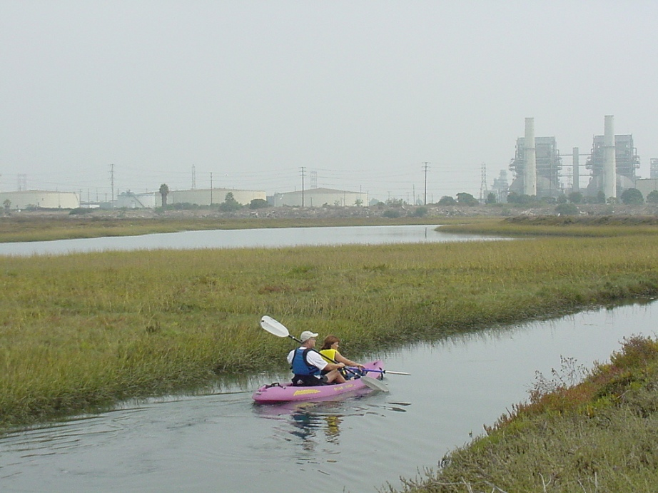 Kayakers at Los Cerritos Wetlands. Photo courtesy of Tidal Influence