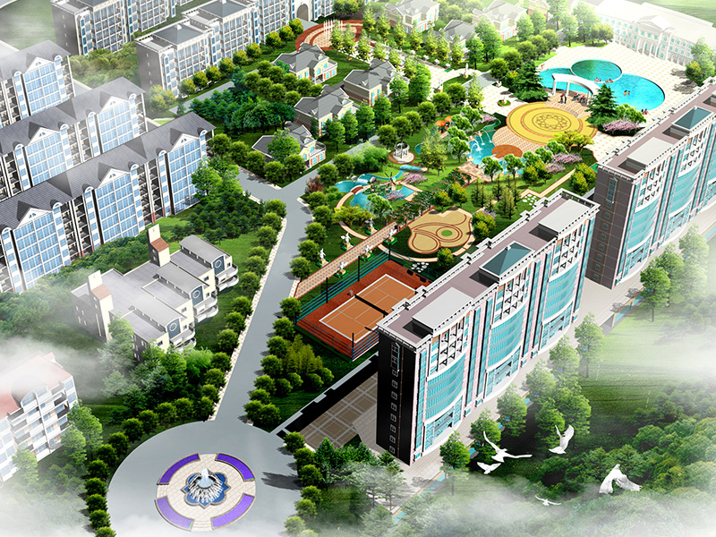 typical Chinese community design