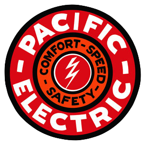 The Pacific Electric Rail Logo. Photo courtesy Wikimedia Commons.