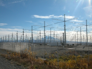 HAARP antenna array. Public Domain photo: Michael Kleiman, US Air Force