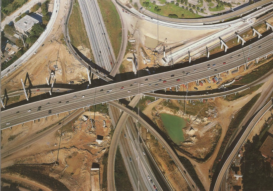 "Houston Texas interstate highway; photo from Alan Berger's ""Drosscape: Wasting Land in Urban America""."