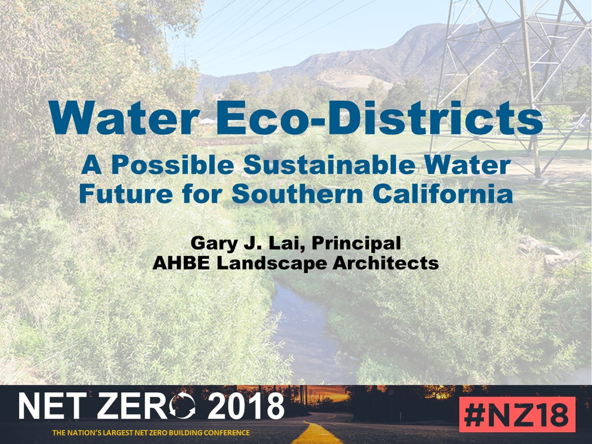 Net Zero Water At An Eco-District Scale